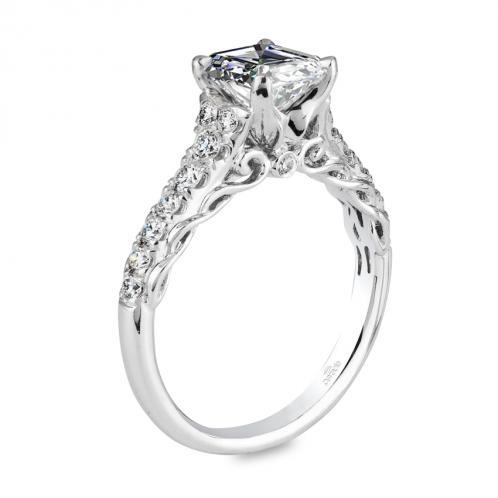 Parade Design Hemera Bridal Pave Accent Scroll Diamond Ring