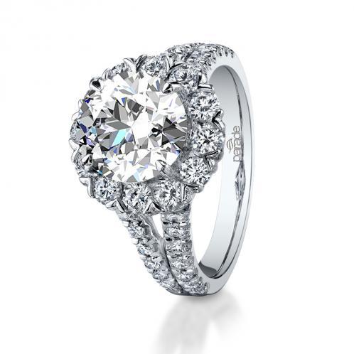 Parade Design Hemera Bridal Halo Pave Split Shank Ring