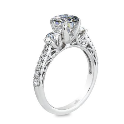 Classic Three Stone Engagement Rings