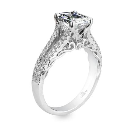 Edwardian Split Shank Engagement Rings