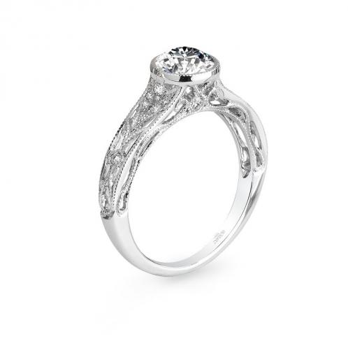 Parade Design Hera Bridal Bezel Set Milgrain Weave Ring