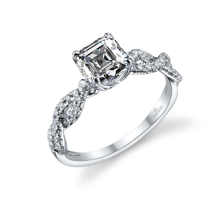 Parade Design Hemera Bridal Twisted Pave Diamond Engagement Ring