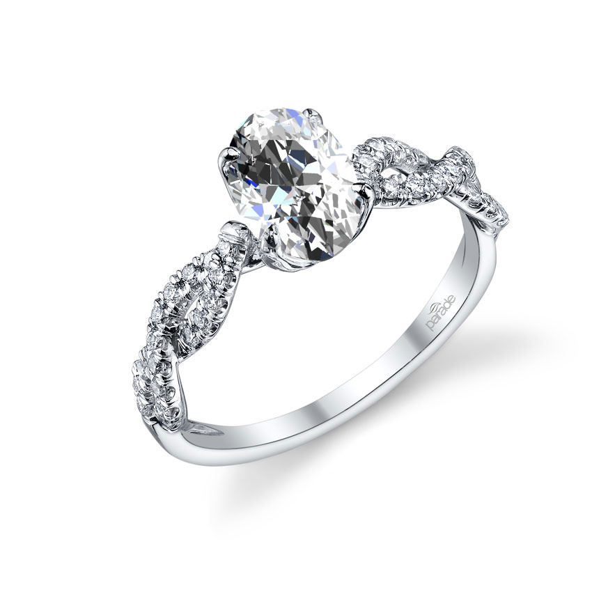 Parade Design Hemera Bridal Twisted Pave Diamond Engagement Ring