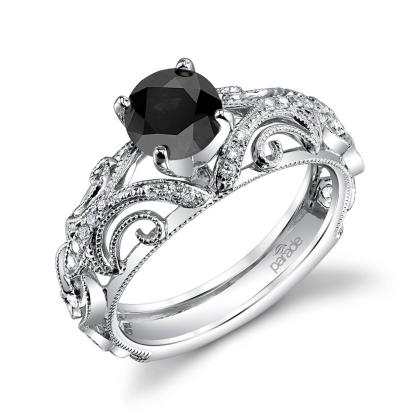 Classic Black Diamond Engagement Rings