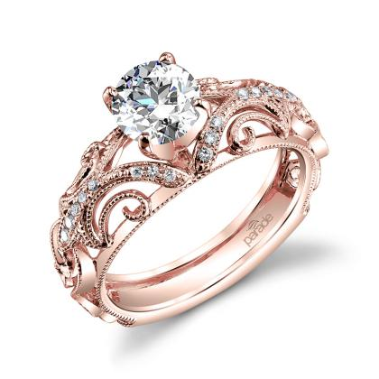 Classic Rose Gold Engagement Rings