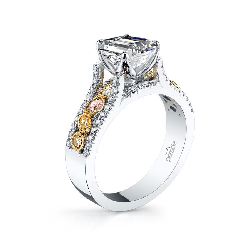Parade Design Reverie Bridal Natural Fancy Cluster Design Pave