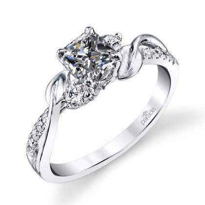 Modern Princess cut Engagement Rings