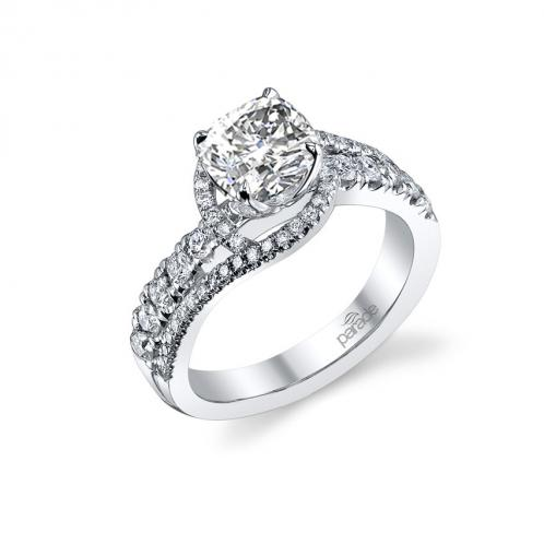 Parade Design Hemera Bridal Swirl Pave Design Diamond Engagement Ring