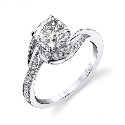 Parade Design Hemera Bridal Swirl Pave Design Ring