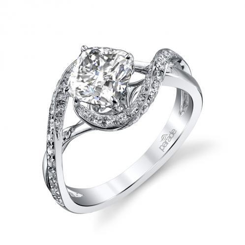 Parade Design Hemera Bridal Swirl Weaving Pave Design Ring