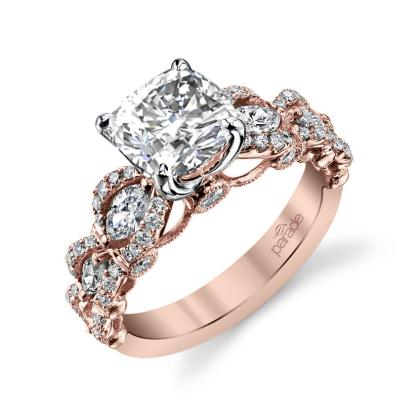 Cluster Cushion cut Engagement Rings