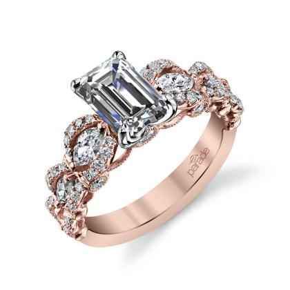 Unusual Emerald cut Engagement Rings