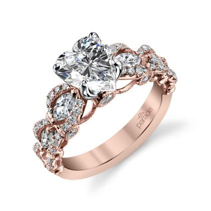 Knots Heart Shape Engagement Rings