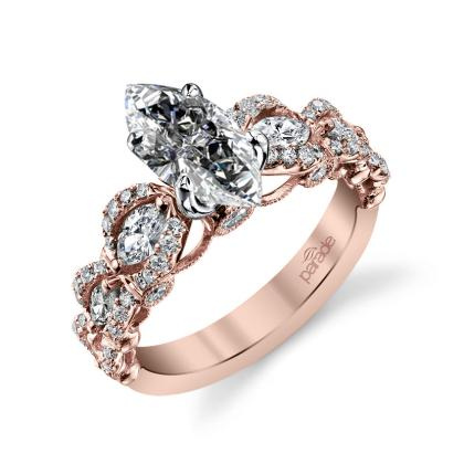 Knots Marquise cut Engagement Rings