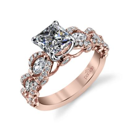Unusual Princess cut Engagement Rings