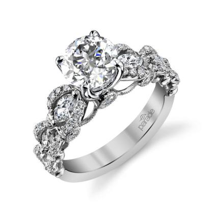 Knots White Gold Engagement Rings