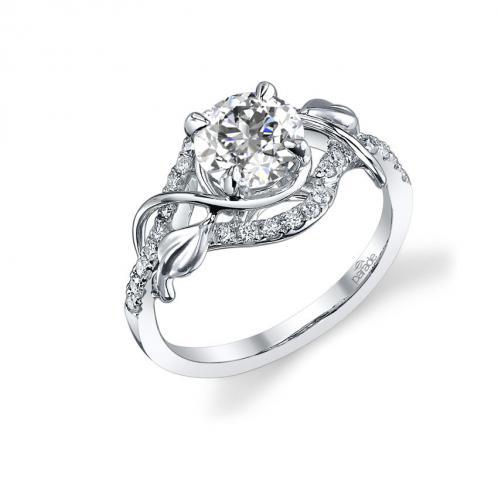 Parade Design Lyria Bridal Scrolling Milgrain Cluster Design Ring