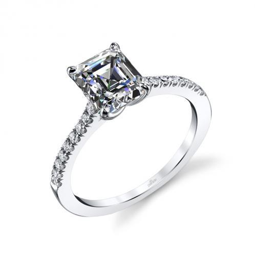Parade Design Hemera Bridal Simple Pave Diamond Ring