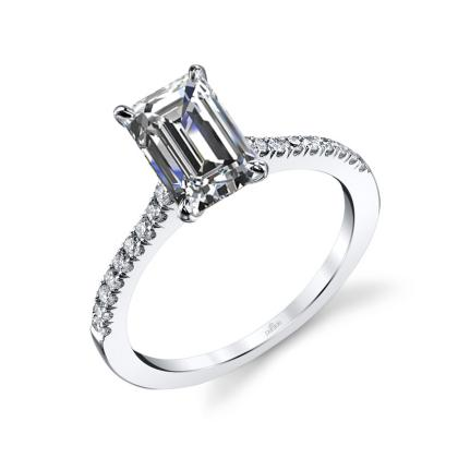 simple emerald cut engagement rings
