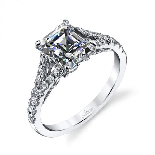 Parade Design Hemera Bridal Split Shank Pave Ring