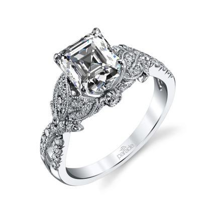 Cluster Split Shank Engagement Rings