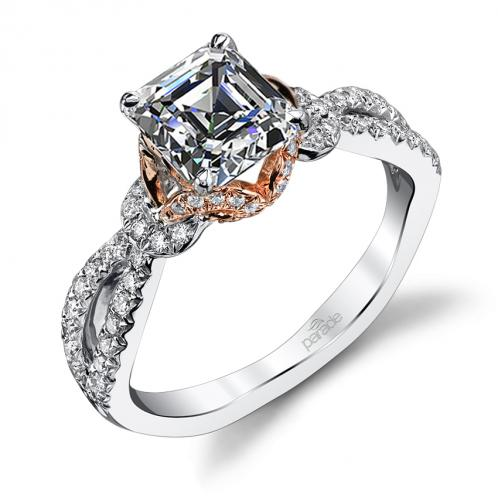 Parade Design Hemera Bridal Crisscross Design Pave Ring