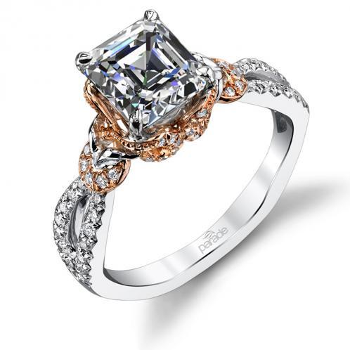 Parade Design Hemera Bridal Twisted Halo Split Shank Pave Ring