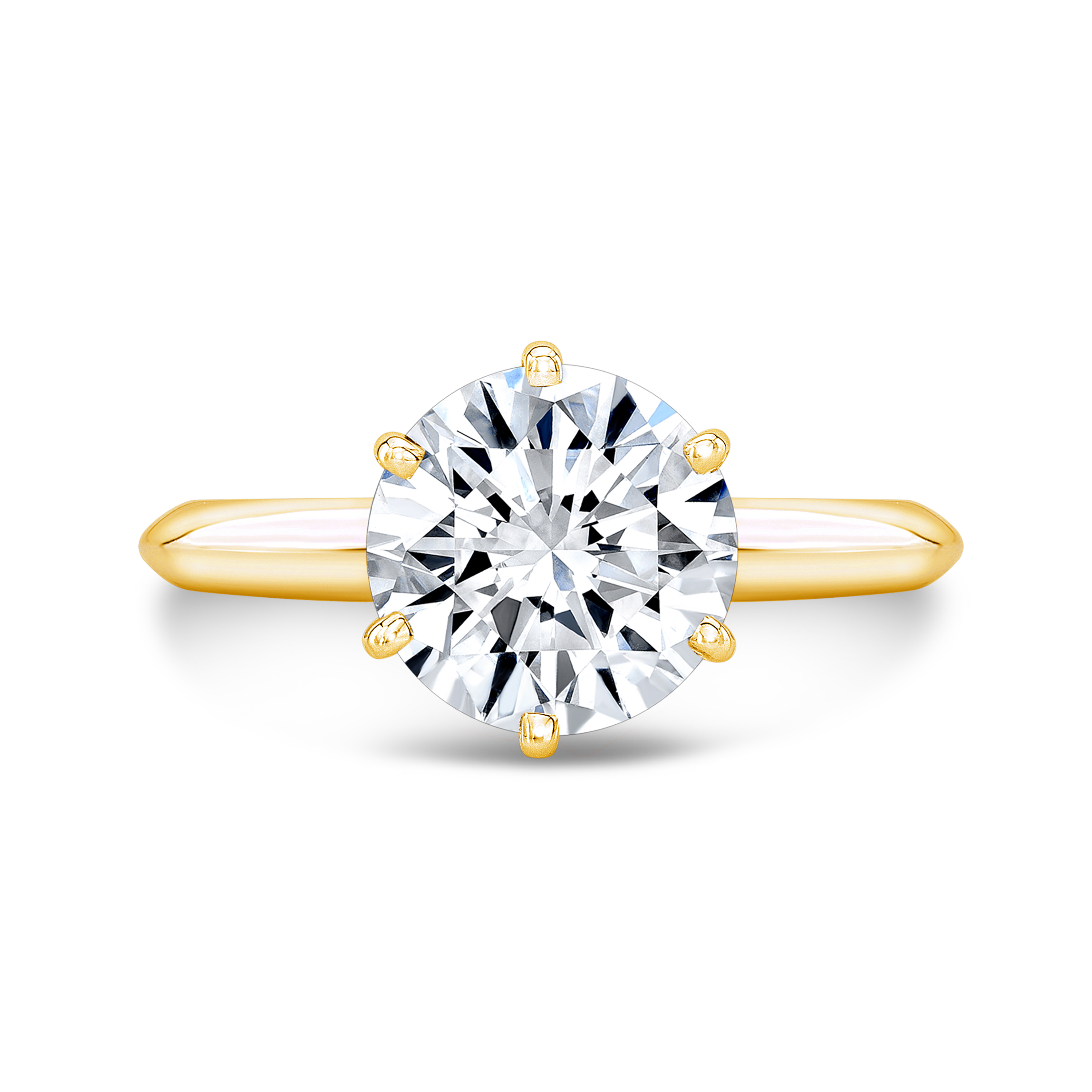 Classic 6 Prong Knife Edge Solitaire Engagement Ring