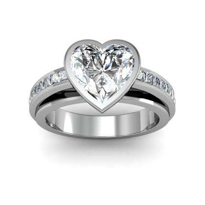 Heart Shape Bezel Set Engagement Rings