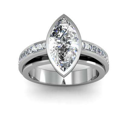 Marquise cut Channel Set Engagement Rings