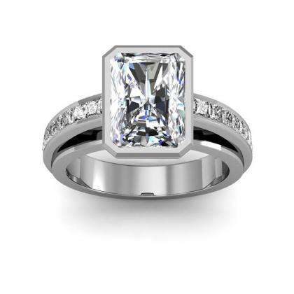 Radiant cut Channel Set Engagement Rings
