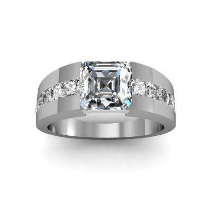 Tension Channel Set Engagement Rings