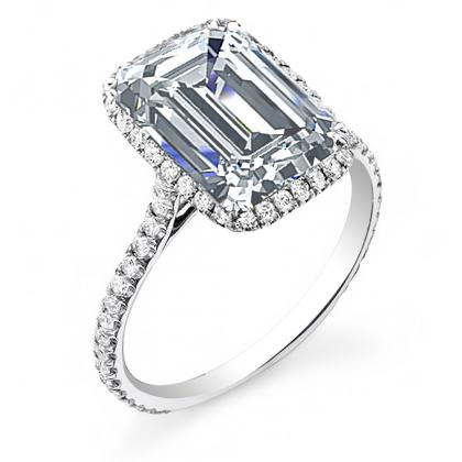 Trendy Emerald cut Engagement Rings