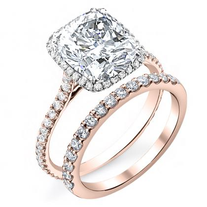 Rose Gold Pave Engagement Rings