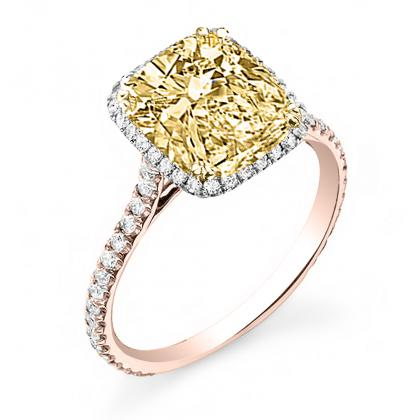 Rose Gold Yellow Diamond Engagement Rings