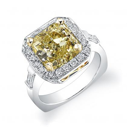 Euro Shank Yellow Diamond Engagement Rings
