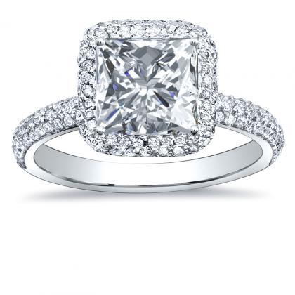 European Princess cut Engagement Rings