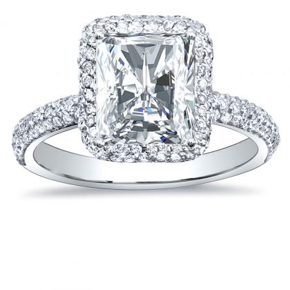 European Radiant cut Engagement Rings