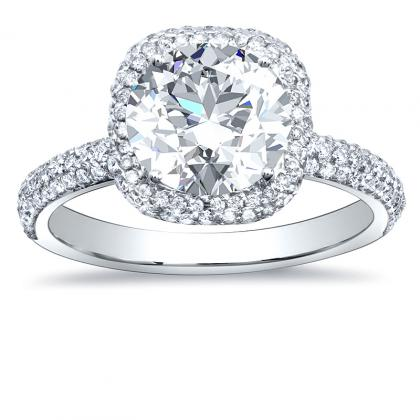 European Round cut Engagement Rings