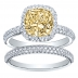 Halo Micro-Pave Natural Diamonds Engagement Ring Setting