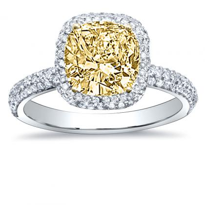 Classic Yellow Diamond Engagement Rings