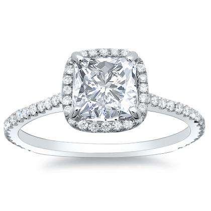 128ct natural diamond princess cut natural micro pave halo diamonds engagement ring set 14k white gold gia - Wedding Rings Princess Cut