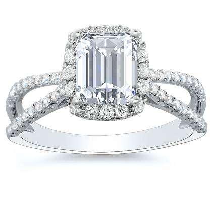 Classic Emerald cut Engagement Rings