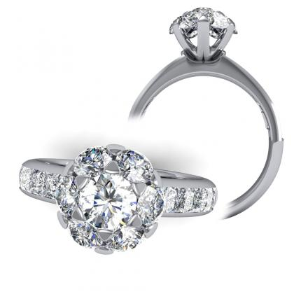 Trendy Channel Set Engagement Rings