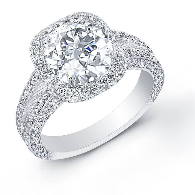 Design Your Own Ring: 2.3ct. Round Cut Natural Diamond Design Your Own