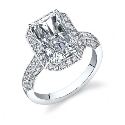 radiant cut halo engagement rings wwwpixsharkcom