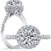 Halo Pave Vintage Style Diamond Engagement Ring