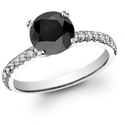 Antique Black Diamond Engagement Rings