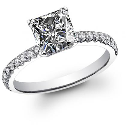 Antique Princess cut Engagement Rings