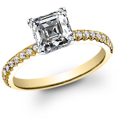 Antique Yellow Gold Engagement Rings